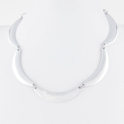 2 PCS Fashion Jewellery Necklace Long Chain Pendent Sweater Collar Bib Choker Collier Silver Bend String