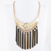 1 PCS Fashion Jewellery Necklace Long Chain Pendent Sweater Collar Bib Choker Collier Crystal Peace Tassels