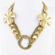 1 PCS Fashion Jewellery Necklace Long Chain Pendent Sweater Collar Bib Choker Collier Yellow Chain White Rhinestone