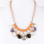 1 PCS Fashion Jewellery Necklace Long Chain Pendent Sweater Collar Bib Choker Collier Colourful Rhinestone Drop