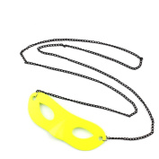 1 PCS Fashion Jewellery Necklace Long Chain Pendent Sweater Collar Bib Choker Collier Yellow Fluorescence Mask