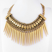 1 PCS Fashion Jewellery Necklace Long Chain Pendent Sweater Collar Bib Choker Collier Golden Chain Tassels