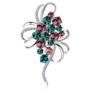 MaxMaxi Fashion Bouquet Jewellery Colourful Brooch Chic Clothing Accessories Brooch Pin for Any Occasion