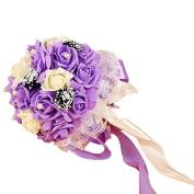 KAY & LAYLA Artifical Bouquet Wedding Bouquets for Wedding Decoration Purple