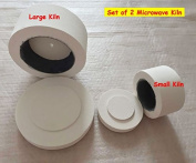 2Pcs Microwave Kiln Large & Small