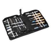 Happykueen 46 PCS Culinary Carving Tool Fruit and Vegetable Carving Knives Garnishing Set