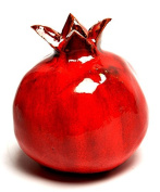 Large Size Of Red Pomegranate Hands Made Art Ceramic