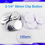"Mirror Keychain 58mm 2-1/4"" Supplies 100sets for Pro Maker Machine Commerciadiy"