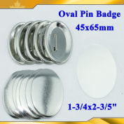 "Asc365 Pro Oval 1-3/4x2-3/5"" Pin Badge Button Parts Supplies 45x65mm Machine"