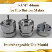 "Round 44mm 1-3/4"" Interchangeable Die Mould for New Pro Badge Button Maker"