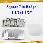 "Asc365 Pro Square 1-1/2x1-1/2"" 37x37mm Pin Badge Button Parts Supplies Machine"