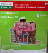 Creatology Holiday Foam Structure- 91 Pieces - Candy Shop