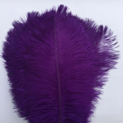 Shekyeon Purple 13-16inch 33-40cm Ostrich Feathers Plumes for Table Decoration Pack of 10
