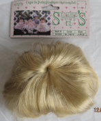 SYNDEE'S Craft DOLL HAIR WIG Style #51003 Fits Size LARGE Colour BLONDE Synthetic HAIR