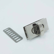 12 Sets 17mmX35mm Turn Button Latch Closure for Catch Tuck Leather Bag Case hangbag Purse Nickle