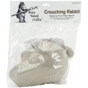 Paper Mache Crouching Rabbit-11cm x 23cm X5.13cm