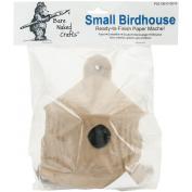 Paper Mache Small Birdhouse-17cm x 13cm X5.60cm
