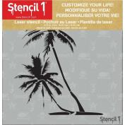 Stencil1 15cm x 15cm Stencil-Palm Trees