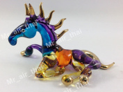 TINY CRYSTAL Horse HAND BLOWN CLEAR GLASS ART Horse FIGURINE ANIMALS COLLECTION GLASS BLOWN