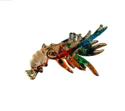 TINY CRYSTAL LOBSTER HAND BLOWN CLEAR GLASS ART LOBSTER FIGURINE ANIMALS COLLECTION GLASS BLOWN