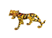 TINY CRYSTAL Tiger HAND BLOWN CLEAR GLASS ART Tiger FIGURINE ANIMALS COLLECTION GLASS BLOWN