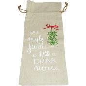 Handmade Linen Wine Gift Bag