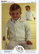 UKHKA BHKC/17 | Cardigan Baby Double Knitting Pattern