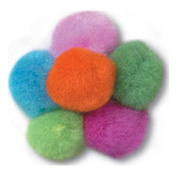 Pom Poms 25mm Assorted Neon