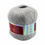 Celine lin One Skein High Quality Pure Cashmere Knitting Yarn,Grey