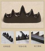 Easyou Black Catalpa Calligraphy Brush Holder Chinese Brush Rack 9*2*4.5cm