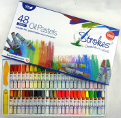 Strokes Art Oil Pastels 48 Assorted Colours Non Toxic, Smooth Blending Texture, Ideal For All Artist Levels