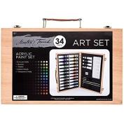 34-Piece Acrylic Paint SetNew by