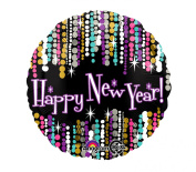 43cm New Year Pzazz Balloon, 1-pc