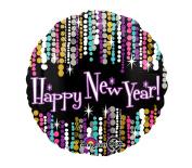 43cm New Year Pzazz Balloon, 1-pc