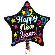 50cm Neon Bright New Year Star Balloon