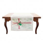 Tin Parade Vintage Party Goods- Christmas Fabric Table Banner