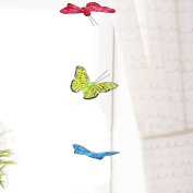 3D Butterfly Hanging Garland - Teenage Girl Room Decor - Baby Nursery Wall Decor Window Treatment Idea - Baby Shower Gift for Baby Girl - Patio Party Decoration Assorted Bright Colours Artificial 10cm Wingspan 110cm Long String Hang From Curtain Rod