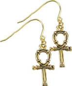 AzureGreen JEAJ394 Ankh Earrings