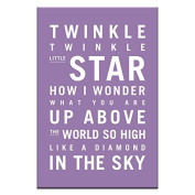 Artist Lane 28TV - P2633 Twinkle, Twinkle Little Star Canvas Artwork by Nursery Art, 12 by 46cm by 3.8cm