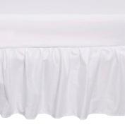 TillYou 100% Cotton Sateen Crib Skirt, White