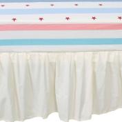 TillYou 100% Cotton Sateen Crib Skirt, Beige