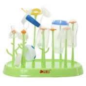 Practical Detachable Cute Garden Antibacterial Baby Bottle Drying Racks with 10 Racks