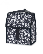 PackIt Baby Large Freezable Bottle Tote, Black/White Vine Print