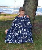 Jasmine & Co Breastfeeding Cover - Navy Blue & White