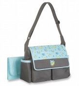 Baby Boom Blue Owl Nappy Bag Tote