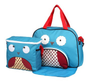 Baby Girl Cloth Pocket or Cover Nappies with 1 Cute Picnic Bag +1 Urine Padin Blue Owl