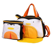 Baby Girl Cloth Pocket or Cover Nappies with 1 Cute Picnic Bag +1 Urine Padin Penguin