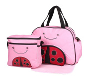 Baby Girl Cloth Pocket or Cover Nappies with 1 Cute Picnic Bag +1 Urine Padin Pink Bee