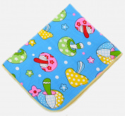 BABYBOO Baby Cartoon Changing Pads Mats Breathable Kids Urine Covers Packing of 1,Blue Mushroom