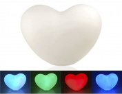 5pcs Heart Shaped Seven Colours Light Lamp